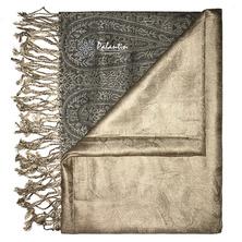 Палантин из натурального экологичного волокна модала с золотистым отливом