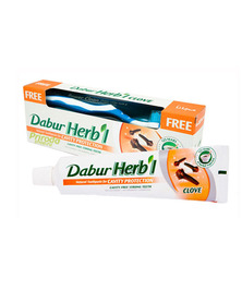 Зубная паста Dabur Herbl Clove (с щеткой), 150 г (срок до 03/18)
