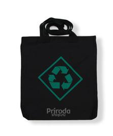 Экосумка Recycling, черная (хлопок)
