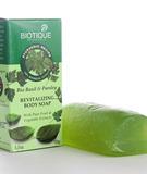 Мыло для тела с базиликом и петрушкой, Bio BASIL and PARSLEY Revitalizing Body Soap Biotique, 150 г