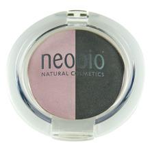 Двойные тени для век, Тон 01 розовый бриллиант NeoBio, 2,5 г