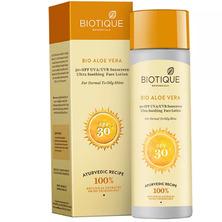 Лосьон солнцезащитный для лица и тела Bio Aloevera SPF 30 Biotique, 120 мл
