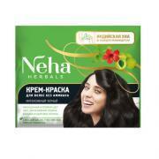 Крем-краска для волос без аммиака Neha Интенсивный черный, 30 мл