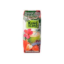 Кокосовая вода с фруктовым соком (клубника, гранат, виноград) KING ISLAND, 250 мл