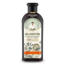 Шампунь на основе черного мыла Агафьи для укрепления и роста волос, Рецепты бабушки Агафьи, 350 мл