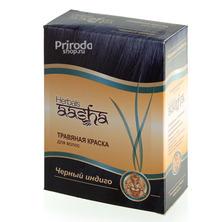 Травяная краска для волос Черный Индиго Ааша, 60 г