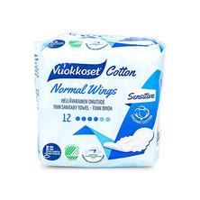 Прокладки гигиенические с крылышками Cotton Normal Wings, 12 шт