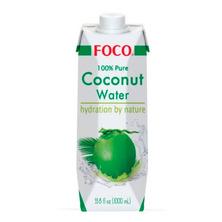 Кокосовая вода без сахара 100% FOCO, 1000 мл