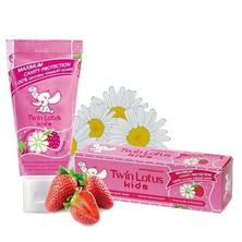 Детская зубная паста Клубника и ромашка, Kids Toothpaste Strawberry&Chamomile Twin Lotus, 50 г