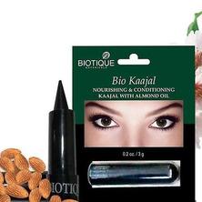 Подводка для глаз Bio Kaajal Nourishing&Conditioning Eye Liner With Almond Oil Biotique, 3 г
