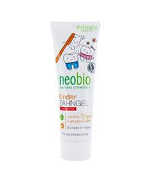 Гелевая зубная паста для детей с био-яблоком и папайей без фтора NeoBio, 50 мл
