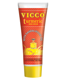 Аюрведический крем для лица с куркумой и маслом сандала Vicco Turmeric cream, 30 г