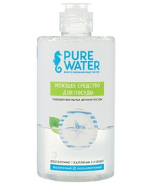 Средство для посуды антибактериальное Гипоаллергенное Pure Water, 500 мл