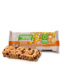 Батончик-мюсли с орехами и медом Здоровый перекус, 55 г