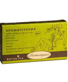 Антистресс набор 100% эфирных масел Botanika, 6*1,5 мл