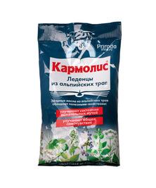 Леденцы из альпийских трав при лечении простуды Кармолис, 75 г