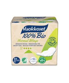 Прокладки с крылышками 100% Bio Normal Wings  VUOKKOSET, 12 шт