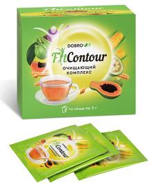 Очищающий чай с дренажным эффектом FitContour Dobrovit, 30 г