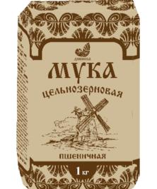 Мука пшеничная цельнозерновая Дивинка, 1 кг