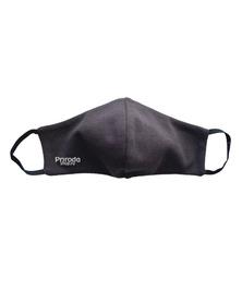 Защитная маска для лица ручной работы (двухслойная, гипоаллергенная), чёрного цвета