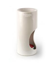 Аромалампа керамическая гладкая, в подарочной коробке, белая