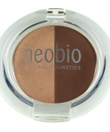 Двойные тени для век, Тон 02 коричневое шампанское NeoBio, 2,5 г