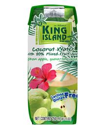 Кокосовая вода с фруктовым соком (лайм, гуава, яблоко) KING ISLAND, 250 мл (срок до 03/02)