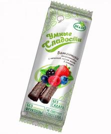 Батончик с начинкой лесная ягода в глазури Умные сладости, 20 г