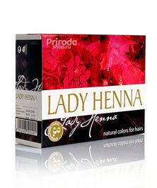 Краска для волос на основе хны Темно-коричневая Леди Хенна, 60 г