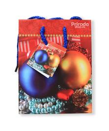 Пакет подарочный Новогодний, малый, 11*14 см