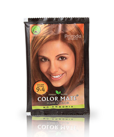 Травяная краска для волос на основе хны COLOR MATE, тон 9.4, 15 г