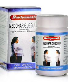 Медохар Гуггул Байдианат (снижение веса), Medohar Guggulu Baidyanath, 120 таб